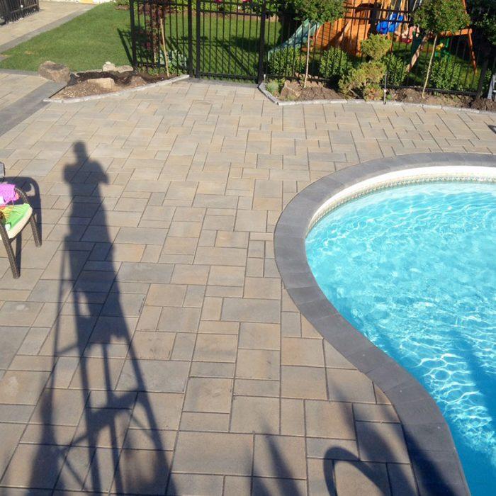 Pool, backyard rejuvenation, pool surrond